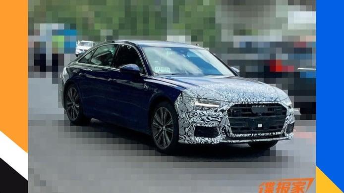 Cazado el Audi A6 L Facelift 2022 en unas fotos espía, la berlina larga para China