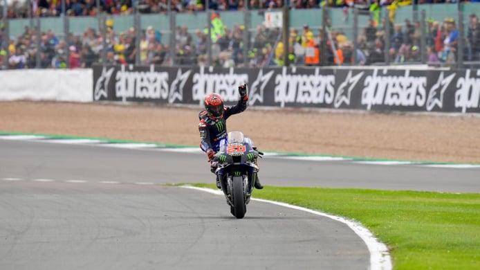 Fabio Quartararo conquista Silverstone en el primer podio de Aprilia en MotoGP