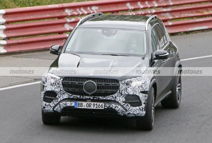 El revisado Mercedes GLE Facelift 2022 ya se enfrenta a Nürburgring