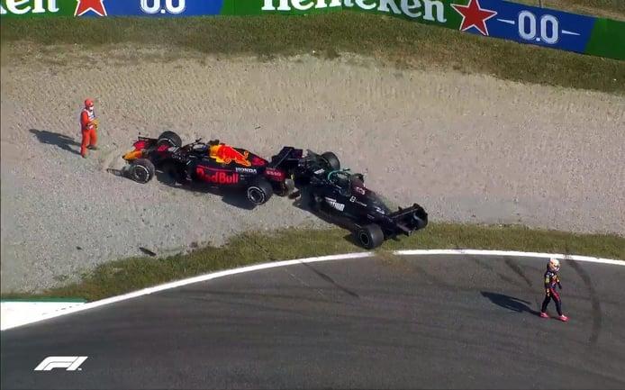 Hamilton y Verstappen se culpan mutuamente: «Aterrizó sobre mi cabeza»