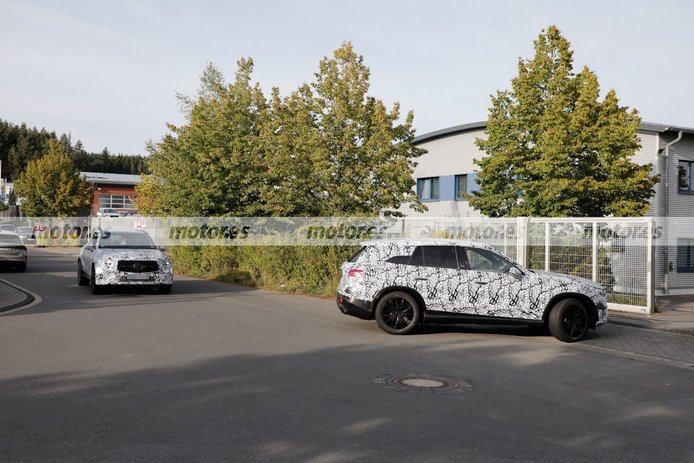 El Mercedes GLC 2022 revela nuevos detalles a su paso por Nürburgring
