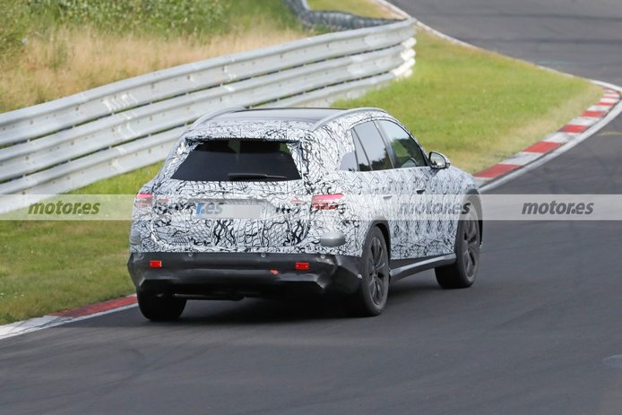 Foto espía Mercedes GLC 2022 en Nürburgring - exterior