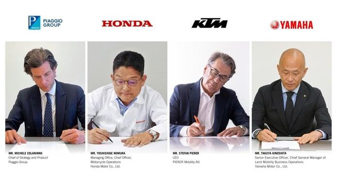 Piaggio, Honda, Yamaha y KTM unirán fuerzas en materia de baterías intercambiables para motos y otros vehículos ligeros