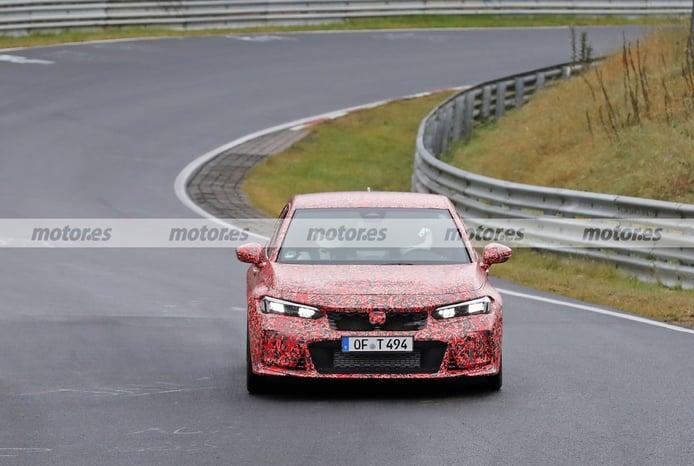 El nuevo Honda Civic Type R 2023 se deja ver en una vuelta al trazado de Nürburgring