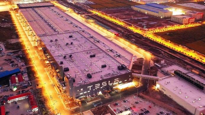 Gigafactoría de Tesla en Shanghái