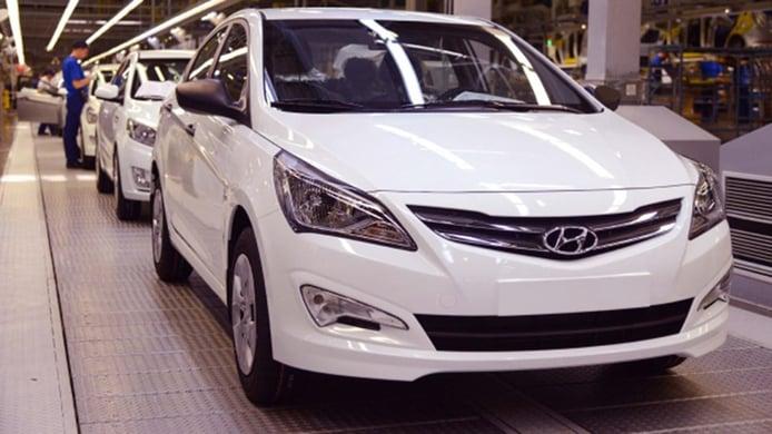 Producción de coches Hyundai en Rusia