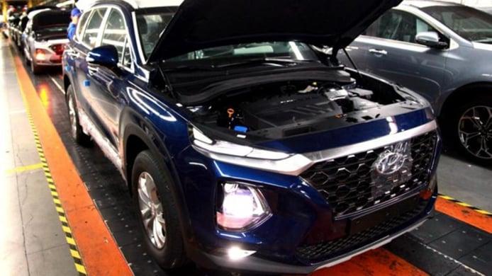 Producción del Hyundai Santa Fe en Rusia