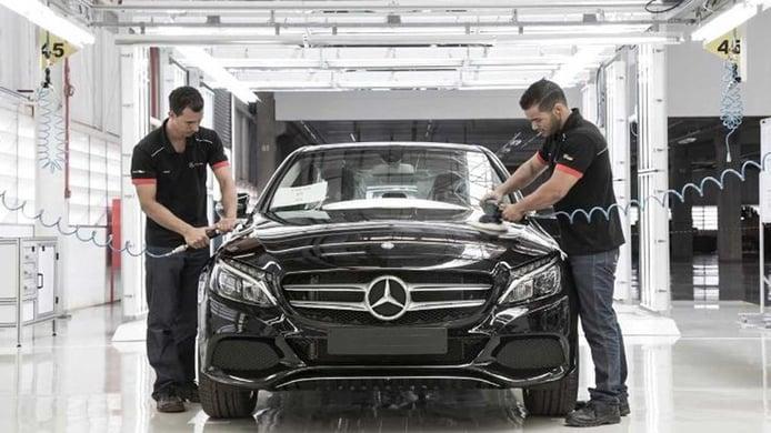 Producción de coches Mercedes en Brasil