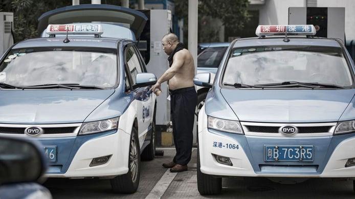 Taxis eléctricos en China