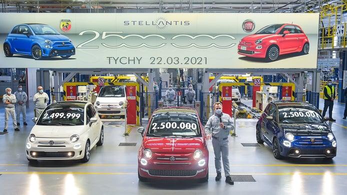 FIAT 500 número 2.5 millones fabricado en Polonia