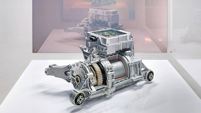 Foto motor y transmisión Porsche Taycan