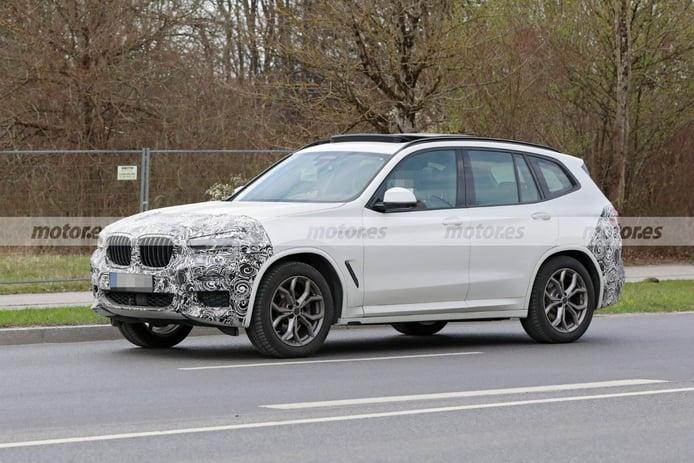 Foto espía BMW X3 LCI 2022 - exterior