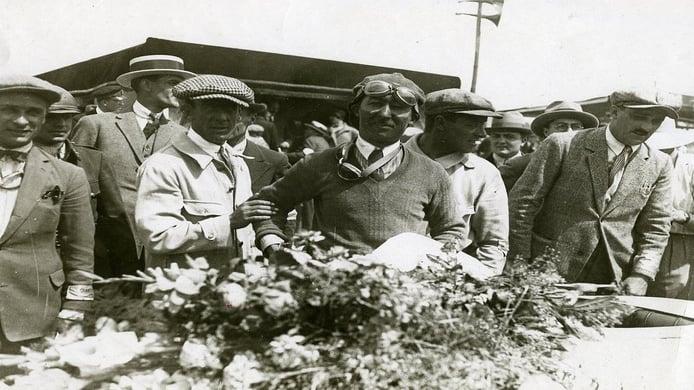Jules Goux en el Gran Premio de Francia de 1926