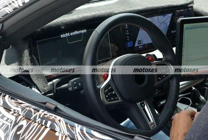 Foto espía BMW M2 Coupé 2023 - interior