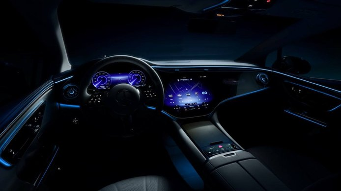 Teaser Mercedes EQE 2022 - interior