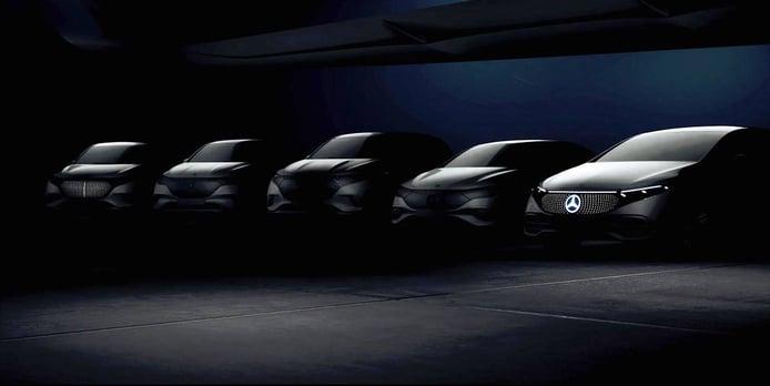 Teaser oficial de los primeros cinco eléctricos de gama alta de Mercedes