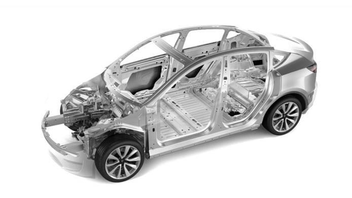 Tesla Model Y - estructura