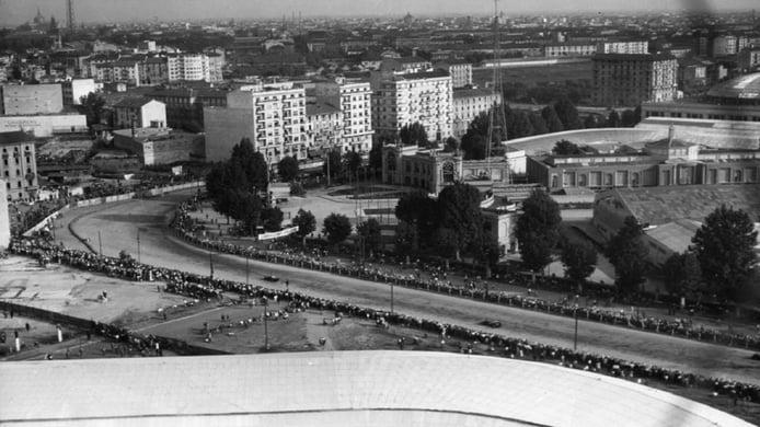 GP de Italia de F1 de 1947 - vista aérea
