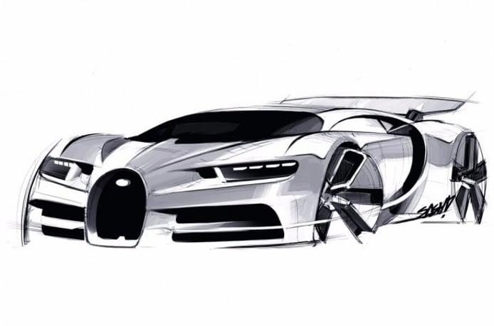 Bugatti Chiron - boceto