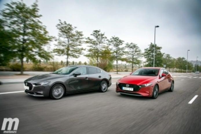 Foto 1 - Fotos comparativa Mazda3 5 Puertas vs Sedán