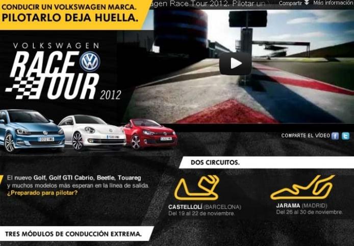 El Volkswagen Race Tour 2012 llega en Noviembre a Madrid y Barcelona
