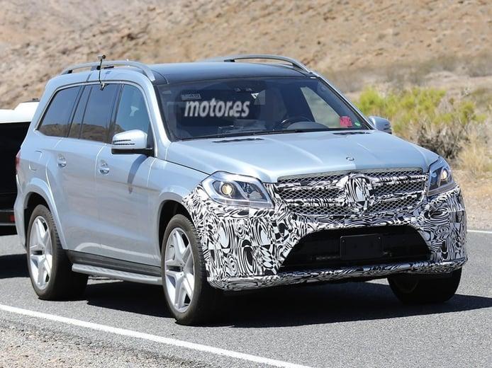 El Mercedes GL 2015 descubierto con un nuevo frontal