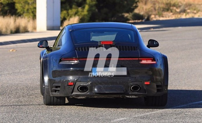 Porsche 911 Turbo 2019 - foto espía posterior