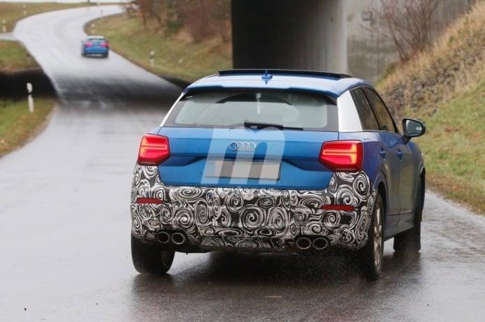 Audi SQ2 2018 - foto espía posterior
