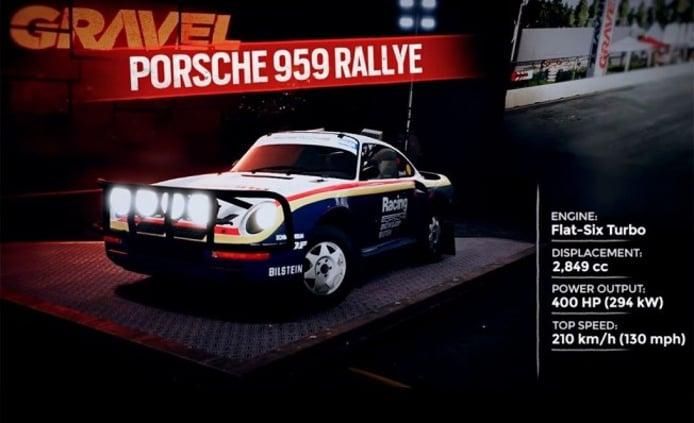 Gravel Porsche 959 Rally