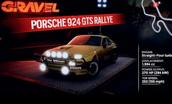 Gravel Porsche 924 GTS Rally