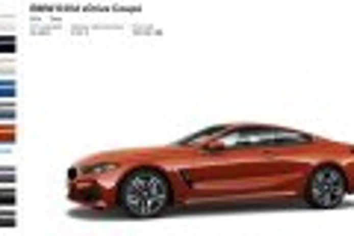 El configurador online del BMW Serie 8 Coupé ya está disponible