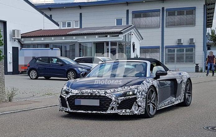 Audi R8 Spyder: primeras imágenes del facelift de la versión abierta