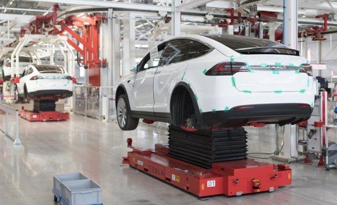 Producción del Tesla Model X