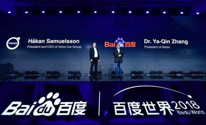 Volvo y Baidu han establecido un acuerdo de colaboración