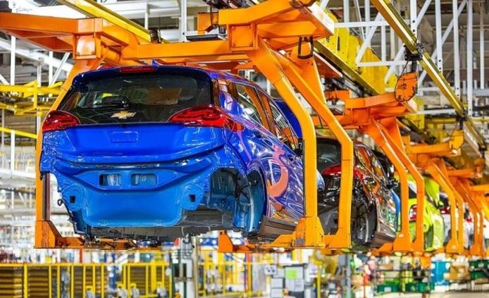 Producción del Chevrolet Bolt en la fábrica de General Motors