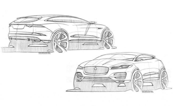 Boceto del Jaguar F-Pace