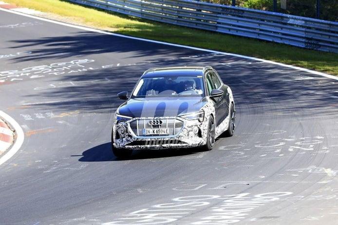 Las pruebas de la variante deportiva S del Audi e-tron quattro continúan en Nürburgring