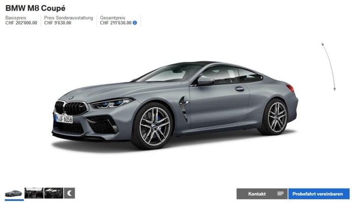 El nuevo BMW M8 ya tiene configurador online