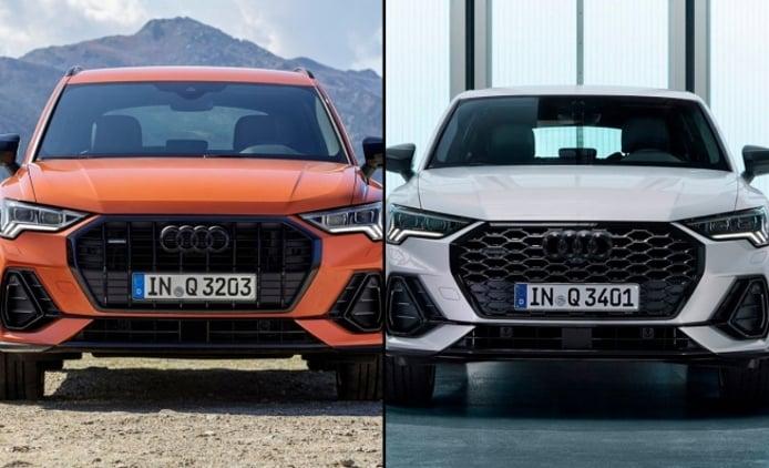 Audi Q3 vs Audi Q3 Sportback - frontal