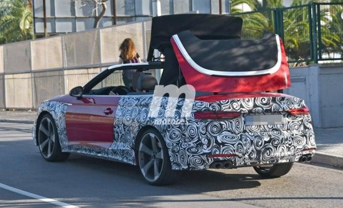 Audi S5 Cabrio 2020 - foto espía posterior