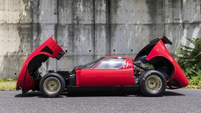 Lamborghini presenta 5 espectaculares unidades del Miura en Monterey
