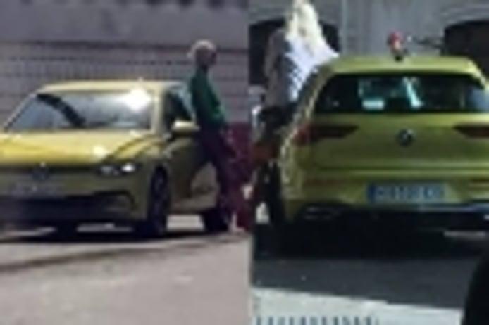 El Volkswagen Golf 8 pillado en Madrid durante su rodaje publicitario