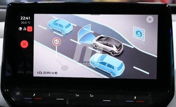 Volkswagen Golf 8 en el sistema de info-entretenimiento del ID.3