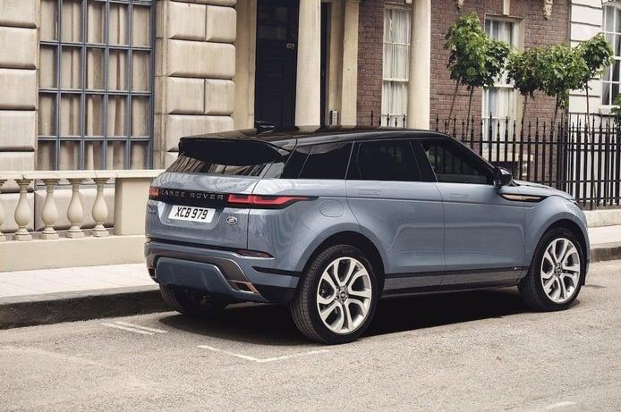 Reino Unido - Octubre 2019: El Range Rover evoque sube al top 10