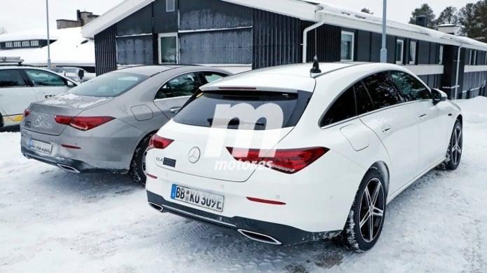Mercedes CLA 250 e Shooting Brake - foto espía posterior