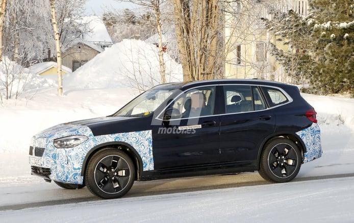 Los prototipos del BMW iX3 estrenan sus nuevas llantas aerodinámicas