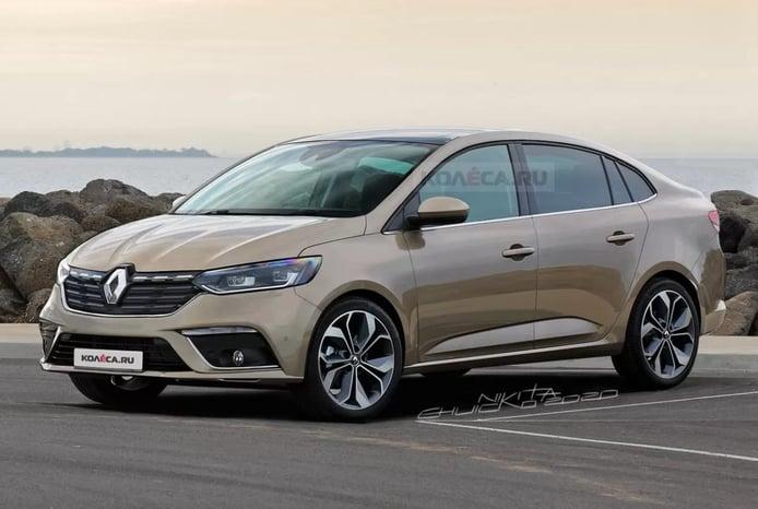 El futuro Dacia Logan 2021 asoma en estos primeros renders con logo Renault