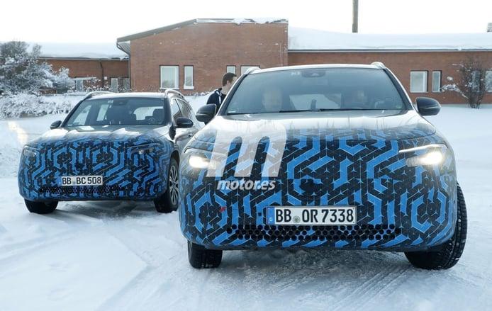 El nuevo Mercedes EQA 2020, cazado en las pruebas de invierno en el norte de Europa