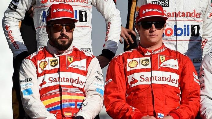 Grosjean admite estar sorprendido por lo parecidos que son Alonso y Räikkönen