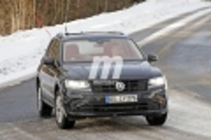Primeras fotos espía del nuevo Volkswagen Tiguan GTE, el facelift trae el híbrido enchufable